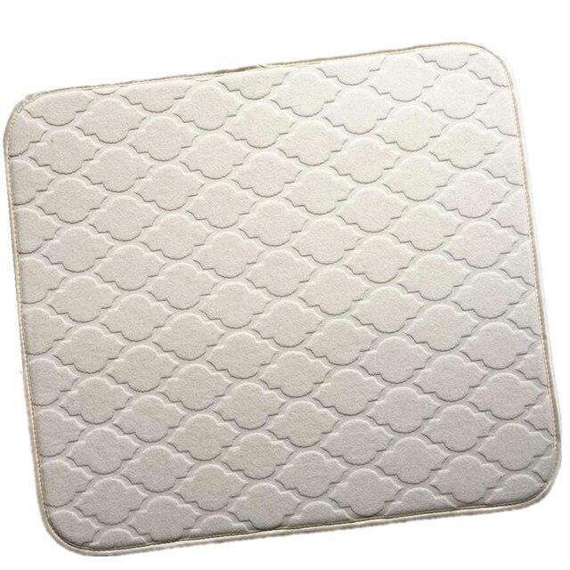 40cmx46cm China Strong Absorbing Antibacterial No Odors Microfiber Dish Kitchen  Drying Mat For Kitchen Cream Trellis