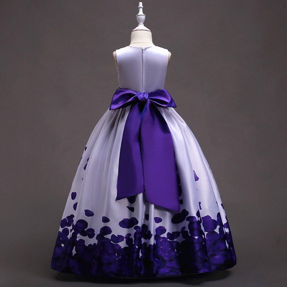 Adolescentes vestido niños Vestidos para Niñas elegante flor de la ...