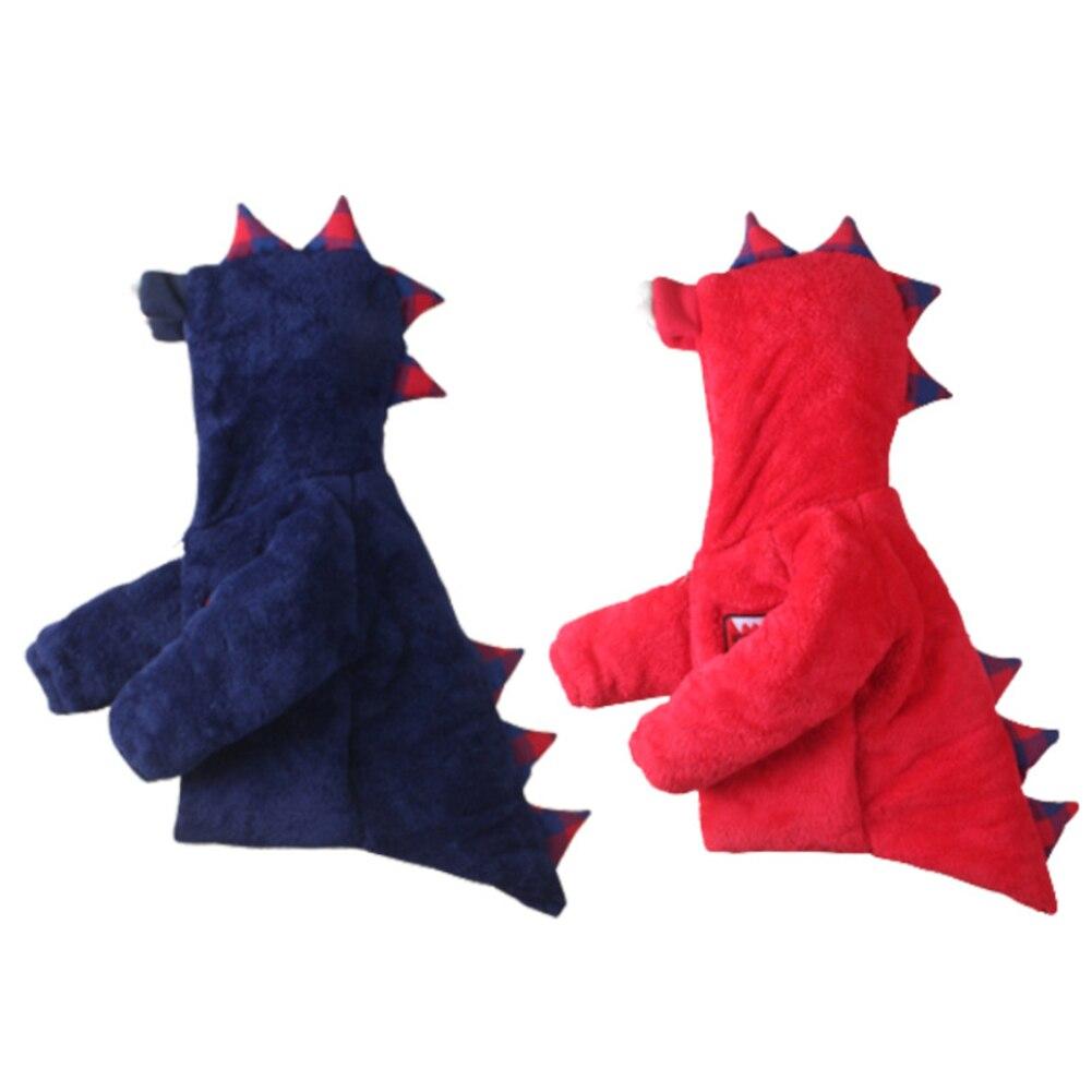 Зимние Симпатичные динозавров пальто с капюшоном для маленьких мальчиков Обувь для девочек теплая мягкая куртка на молнии Верхняя одежда