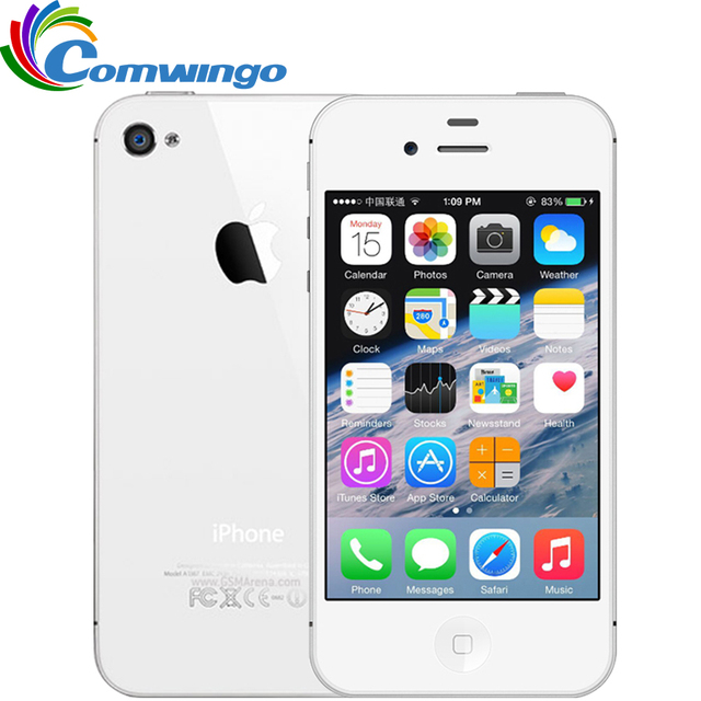 Оригинальное разблокирована Apple IPhone 4S телефон 8 ГБ/16 ГБ/32 ГБ Встроенная память GSM WCDMA WI-FI GPS 3.5 ''8MP Камера мобильный телефон используется iPhone 4S