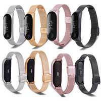 For Xiaomi Mi band 3 metal strap xiaomi band 3 metal Stainless Steel wristband Milanese strap Mi 3 Strap band 3 metal strap