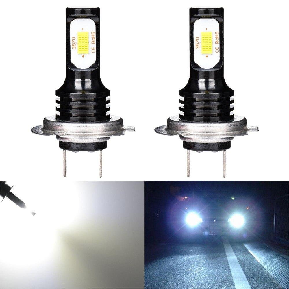 Katur 72 watt H7 Led-lampen Für Autos Tagfahrlicht Nebel Lichter 3570 Led Super Helle 6000 karat Weiß Auto beleuchtung Canbus Fehler Freies