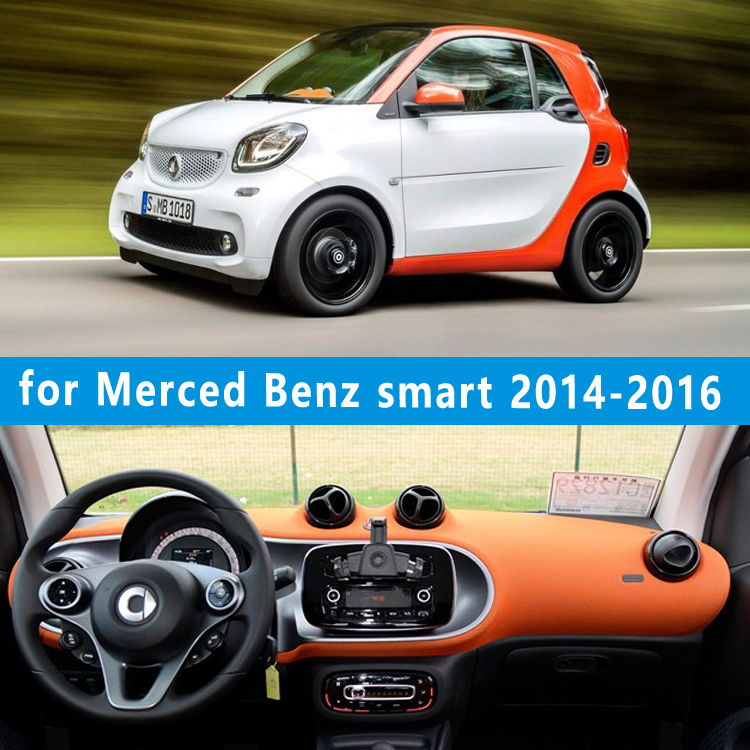 dashmats car-styling accessories dashboard cover for Merced-Benz smart Fortwo Cabrio forfour W454 W453 2014 2015 2016