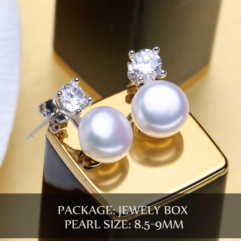 FENASY stud earrings,freshwater pearl earrings for women gift box,925 sterling silver earrings 2018,wedding & engagement jewelry