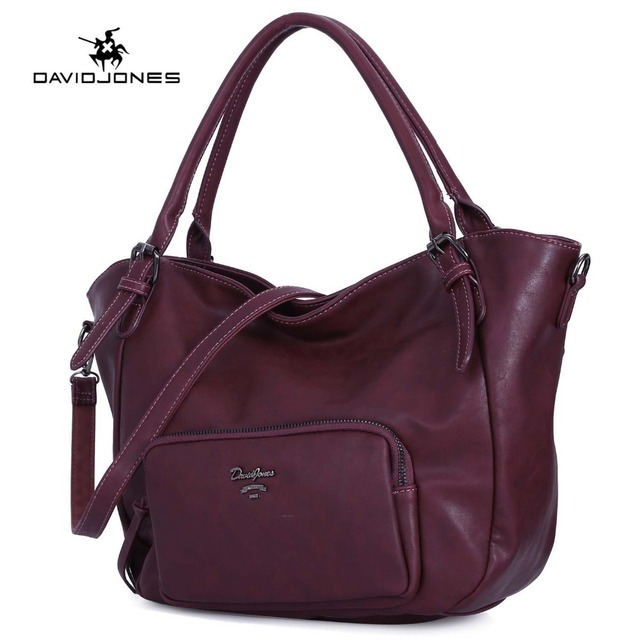 569ecc45cc83 DAVIDJONES women handbag faux leather female shoulder bags large lady solid  tote bag girl brand crossbody