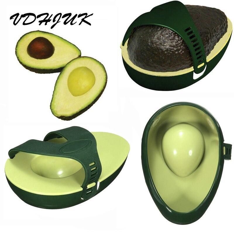 VDHJUK Green Avocado Fresh Food Holder Kitchen Gadget Saver