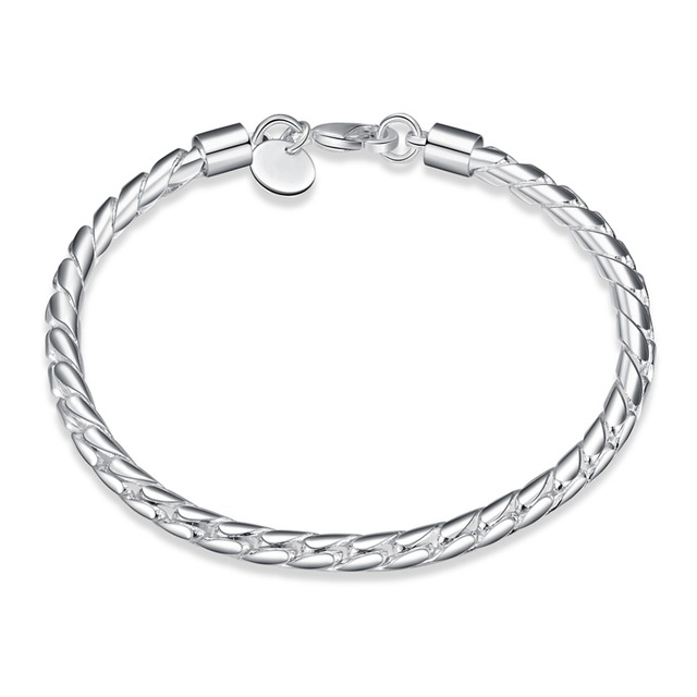 Wholesale Twisted Rope Bracelets Chain For Men 925 Silver Bracelets Charm  Silver Jewelry Wrap Bracelets Jewelry Supplier H210 8e5c17aa237b