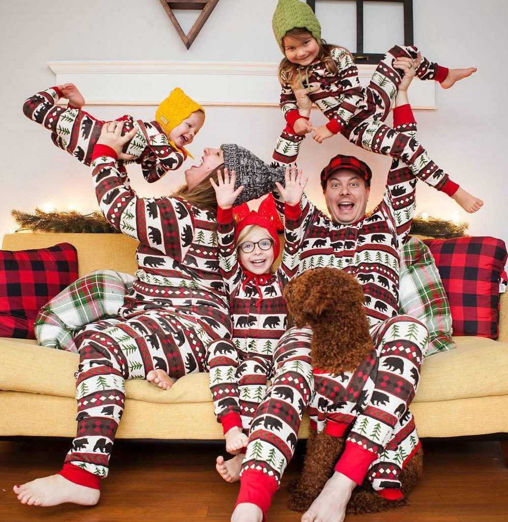 ... Family Matching Outfits Striped Onesies Christmas Pajamas Family Look  Mother Daughter Son Clothes Family Pajamas ... 80b4affd8