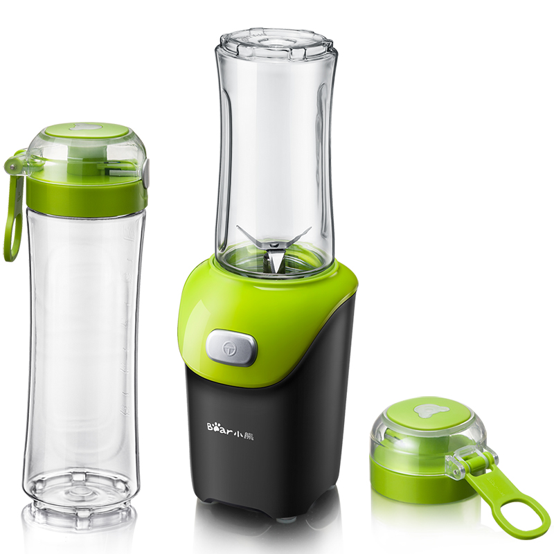 Bear 220V Portable Electric Blender Juicer Water Bottle Rechargeable Juice And Mixer glantop 2l smoothie blender fruit juice mixer juicer high performance pro commercial glthsg2029