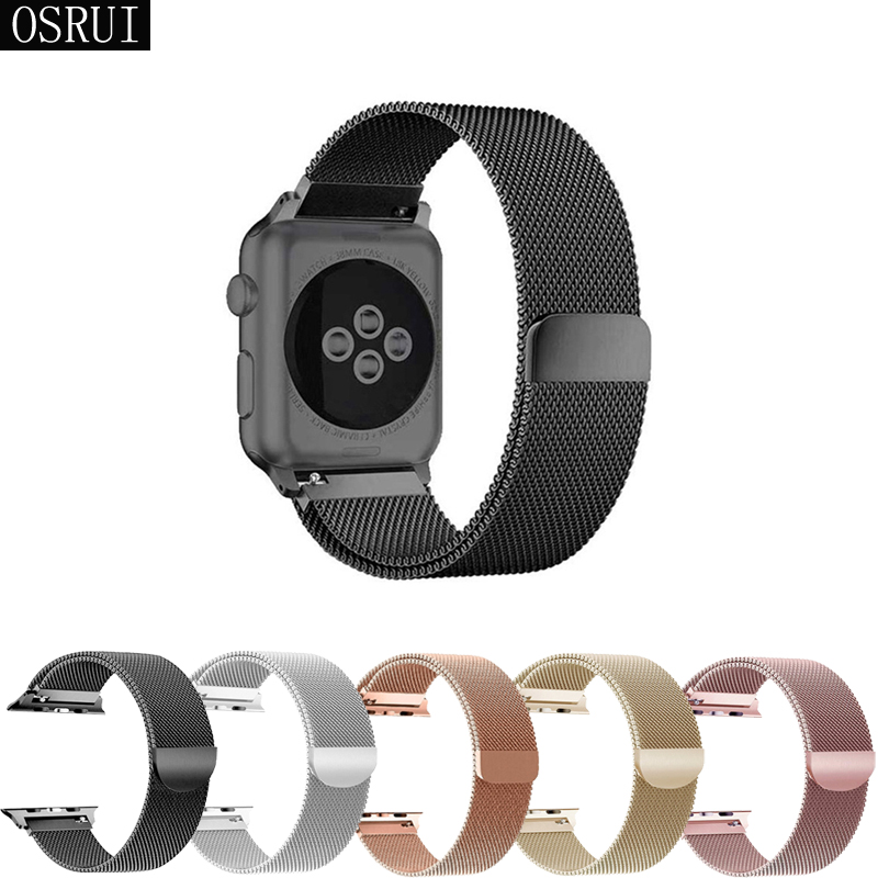 Strap For Apple Watch Band 42mm 38mm Correa Iwatch 44mm 40mm Series 4/3/2 Stainless Steel Milanese Loop Bracelet Accessories