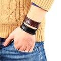 Grátis frete homens moda Vintage jóias pulseira larga pulseira de couro com pulseira de botão pulseira atacado para as mulheres acessorios masculinos braceletes luxury brand handmade acessorios masculinos 2014 M16