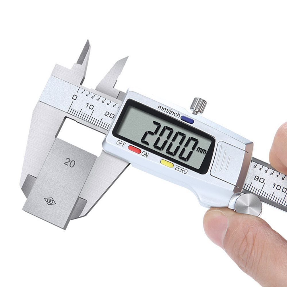 6 Inch 0 150mm Caliper Measuring Tool LCD Display Digital Vernier Caliper Measuring Instrument Plastic Vernier Caliper in Calipers from Tools