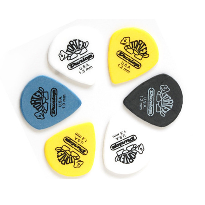 3pcs Dunlop Tortex Jazz Guitar Pick Mediator Quick Play for Acoustic Electric Guitar Bass Thickness 1.0 1.2 1.5 mm