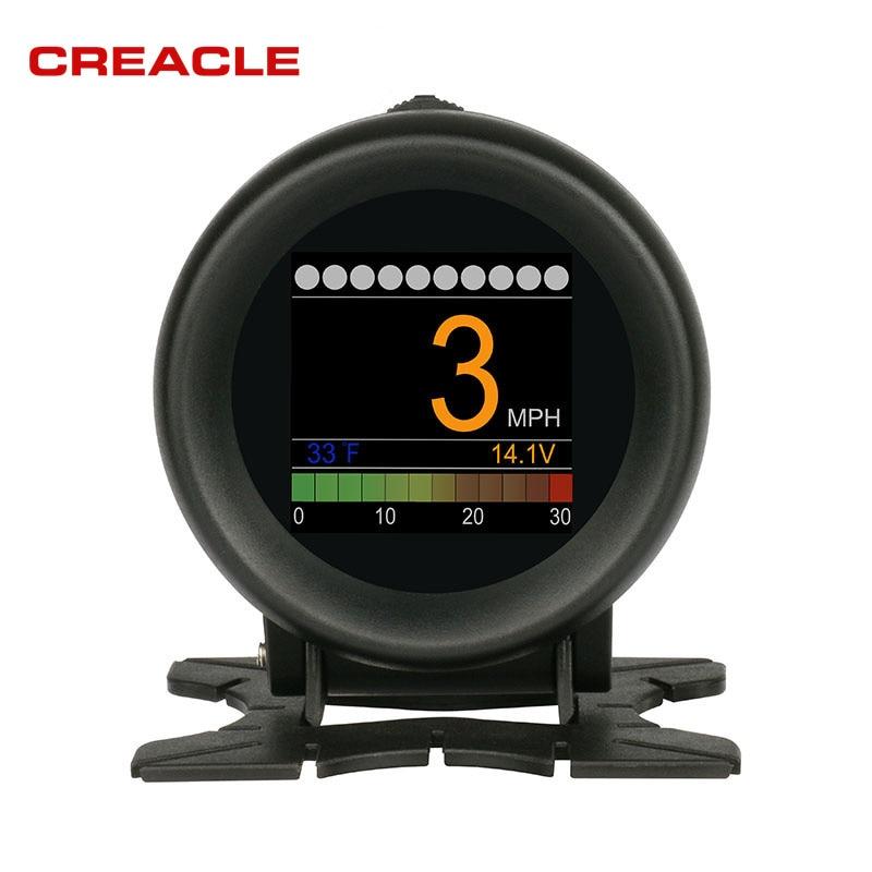 2018 AUTOOL X60 OBD2 HUD Digital Temperature Gauge Digital Voltage Speed Meter Display Meter Alarm Water Multi function 12V