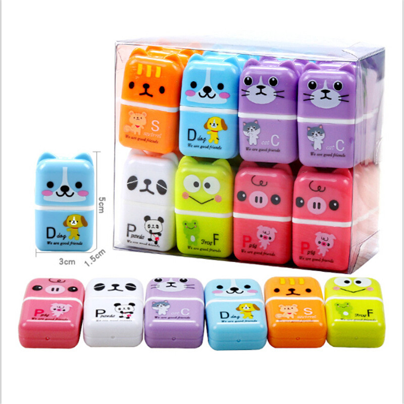 1pc Kawaii Creative Roller Erasers Cute Cartoon Rubber Kids Stationery School & Office Supplies Gifts Hot Sale