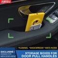 Caixa de armazenamento de Flanela Interior Do Carro Painel de Guarnição Da Porta Pull Handle posição Tanque Porta Para Mercedes-Benz Classe C C180L C200L C260L W205