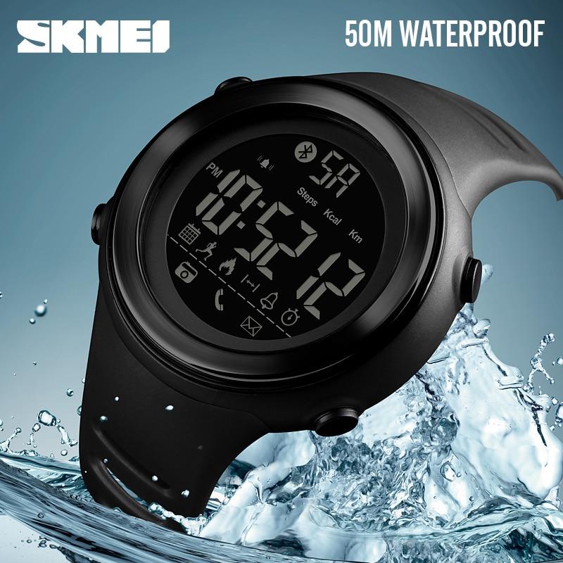SKMEI Bluetooth Smart Watch Men Pedometer Stopwatch Waterproof Sports Watches Digital LED Electronics Watches For Men Smartwatch