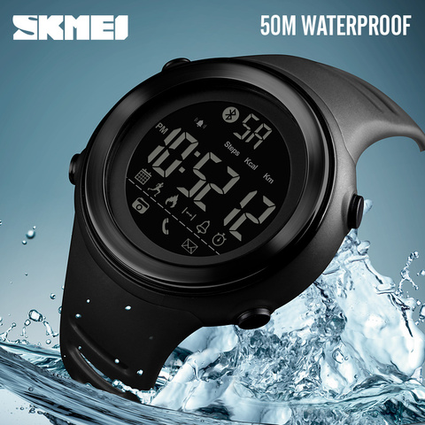 SKMEI Bluetooth Smart Watch Men Pedometer Stopwatch Waterproof Sports Watches Digital LED Electronics Watches For Men Smartwatch Pakistan