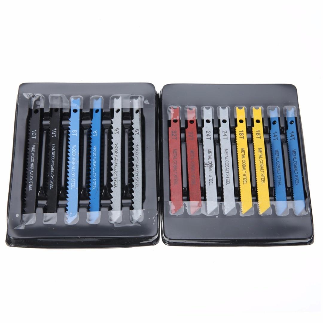 Professional 14pcs Assorted U-shank Jigsaw Blades Kit Jigsaw Blade For Wood Sheet Metals Cutter Hand Tools