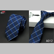 New Top Silk Necktie 2016 Men Slim Neck Ties 6cm 24 Colors Classic Plaid For Wedding Party