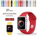 Для apple watch ремешок силиконовый ремешки для apple часы 42mm 38mm SM ML размер