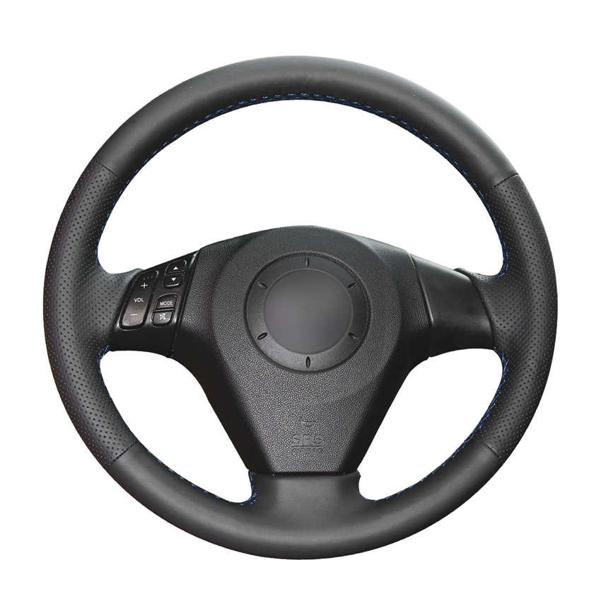 Hand Sewing Black PU Artificial Leather Car Steering Wheel Covers For Mazda 3 Axela 2004-2009 Mazda 5 Mazda 6 Atenza Mazda MPV