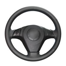 Cubiertas de volante de coche para Mazda 3, Axela 2013 2018, Mazda 5, 6, Atenza, Mazda, MPV, cuero Artificial, negro, costura a mano