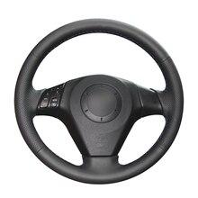 Do naszycia czarny PU sztuczna skóra pokrowce na kierownicę samochodową do Mazda 3 Axela 2004 2009 Mazda 5 Mazda 6 Atenza Mazda MPV