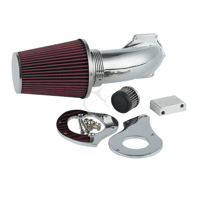 Air Filter Cleaner Intake Cone For Honda VLX Deluxe 600 Shadow VT600C 1999-2017 chrome air cleaner cone intake filter for honda shadow ace aero spirit 750 1100