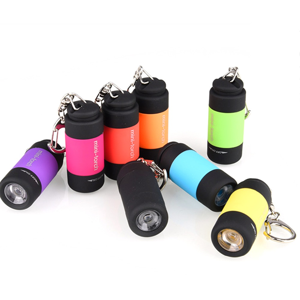 Pocket Mini-Torch Portable Mini USB LED Torch Lamp Pocket Rechargeable Light Flashlight Deluxe ABS Body Waterproof USB Charge