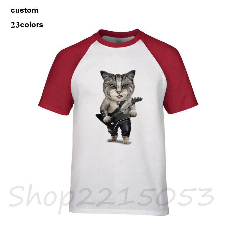 Heavy Metal Bass Guitar Cat Funny T-Shirt O Neck Men music club Christmas She Wants The D Chord Guitar T Shirt 2018 MALE tshirt