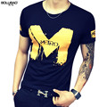 2017 New Arrival Brand Clothing Summer Men T-Shirt Fashion Letter Printed Short Sleeve Men T Shirt Casual Slim Fit Men Shirt