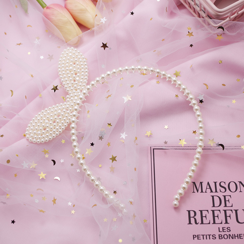 WPCZQVZA 2019 Elegant Fashion Girls Headbands Lovely Animals Ears Hair Bands Chic Simple Pearl Hair Accessories For Holiday Gift
