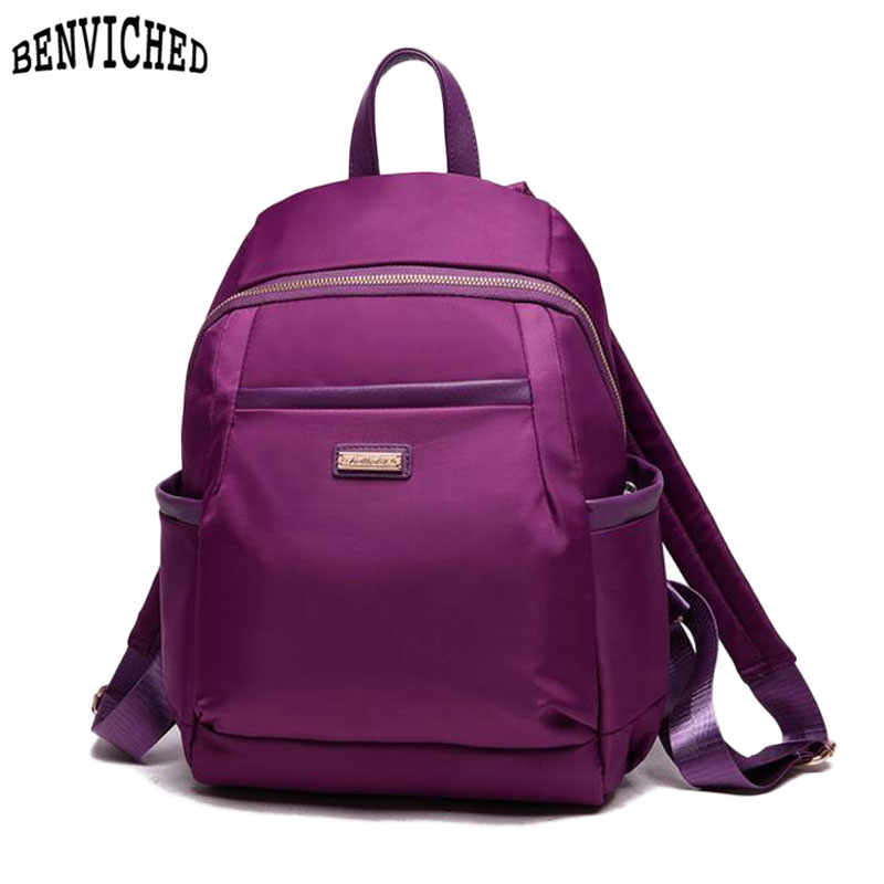Model Vintage Girl School Bags For Teenagers Cute Dot Printing Canvas Women