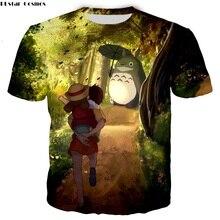 PLstar Cosmos New Classic Anime Totoro Print 3d T shirt Women/Men Short Sleeve t-shirt Hayao Miyazaki cartoon Tops