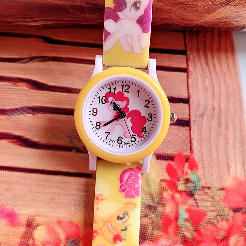 2019 New Pony Print Silicone Band Kids Watch Girl Cute Cartoon Quartz Watch Wrist Watch