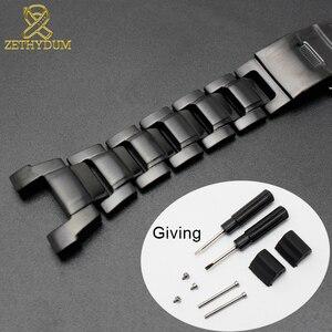Image 2 - Solido cinturino in acciaio inox per GW 3500B/GW 3000B/GW 2000/G 1000 cinturino nero della fascia Del Braccialetto