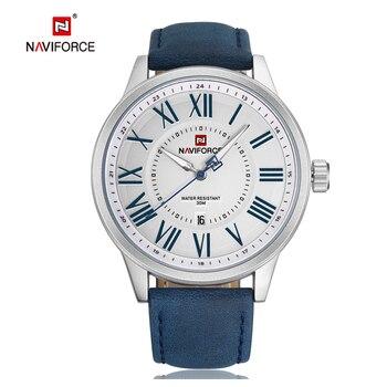 NAVIFORCE Top Luxury Brand Wrist Watches Sport Waterproof Quartz Watch Date Clock Men Military Analog Watch Relogio Masculino