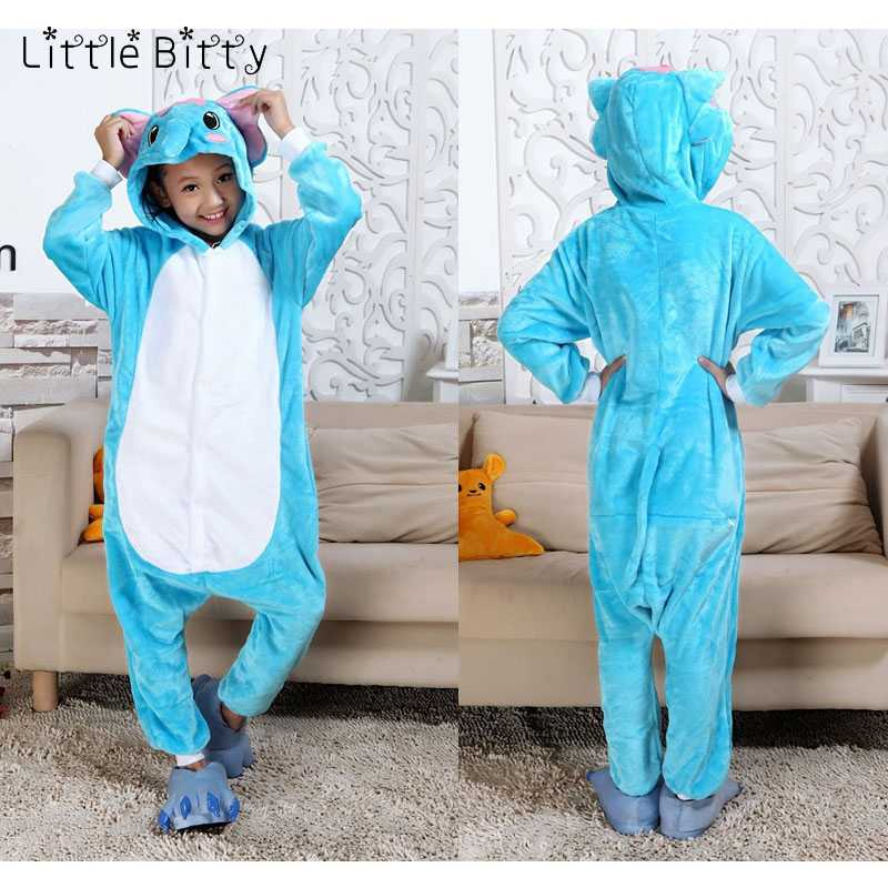 Little Bitty children pajamas animal elephant tiger cat kigurumi pajamas kid  sleepwear baby boys girl sleeper b53b2c7cc