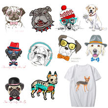 3D Dogs Iron-On Transfers Heat Transfer Ironing Stickers T-shirt Thermal Patches Washable Decal DIY Accessory Appliques Custom(China)