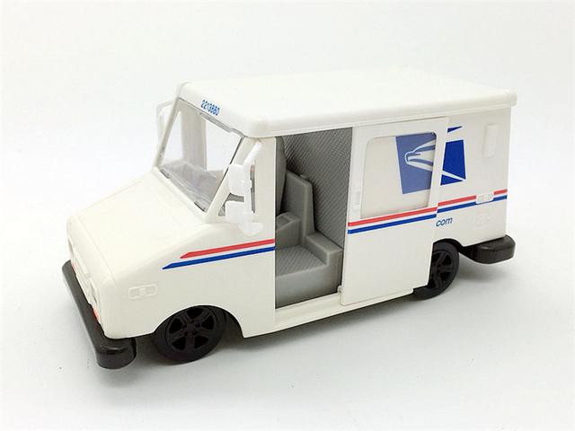 159fa18715 Simulation pull back car inertia car model truck mall truck postal service  mini pocket children s toy