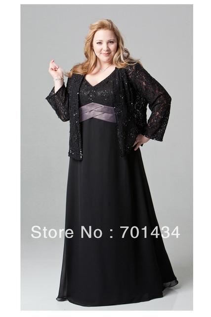 Lace and Chiffon Evening Dress