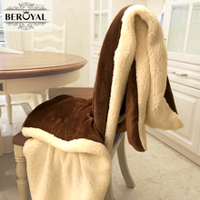 Beroyal Brand 2017 Double Layer Thickened Lambs Coral Cashmere For Open Room Lunch Break Children Blanket Sofa Cover Blanket