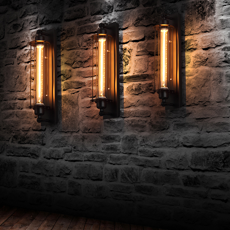 Industrial vintage wall light bra iron loft lamps bedroom corridor industrial vintage wall light bra iron loft lamps bedroom corridor bar aisle warehouse restaurant pub cafe wall lamp wall sconce in led indoor wall lamps aloadofball Image collections