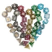 En Kaliteli Tahta Oyunları Zar Dungeons için 42 Adet Çokyüzlü Zar Set Dragons D20 D12 D10 D8 D6 D4 Oyunları + Çanta Severler hediyeler
