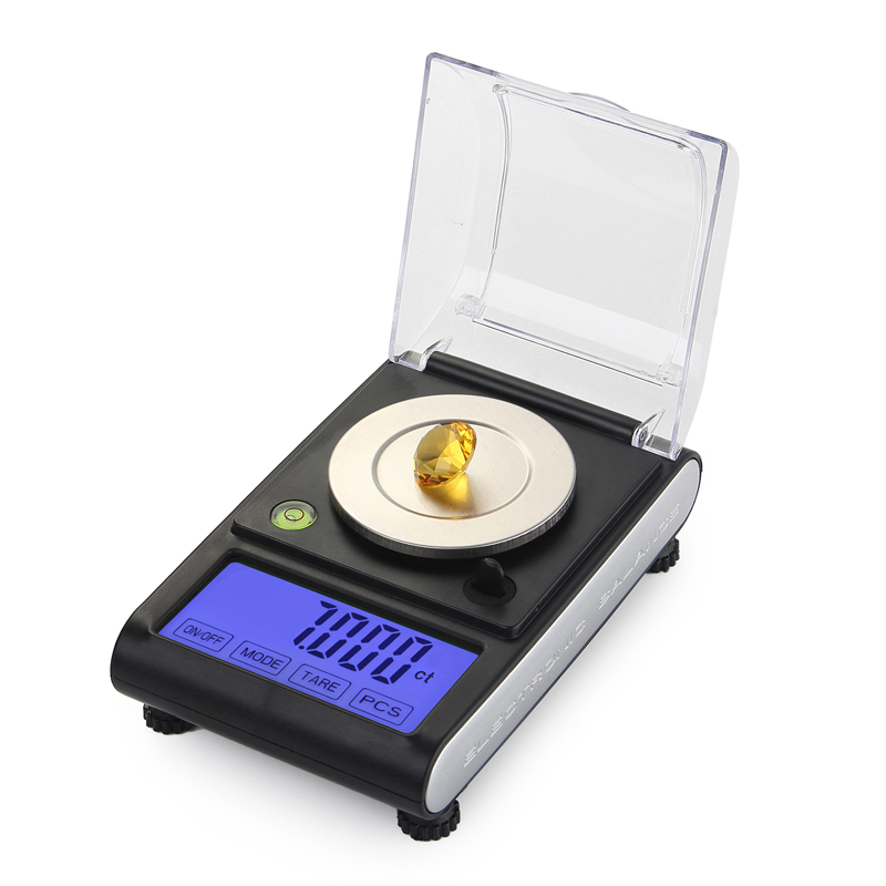 Touch Screen Digital Milligram Scale 50g x 0.001g Electronic Lab Laboratory Balance Weight Scales Jewelry Carat Grain Ounce LCD 30g 0 001g precision lcd digital scales gold jewelry weighing electronic scale