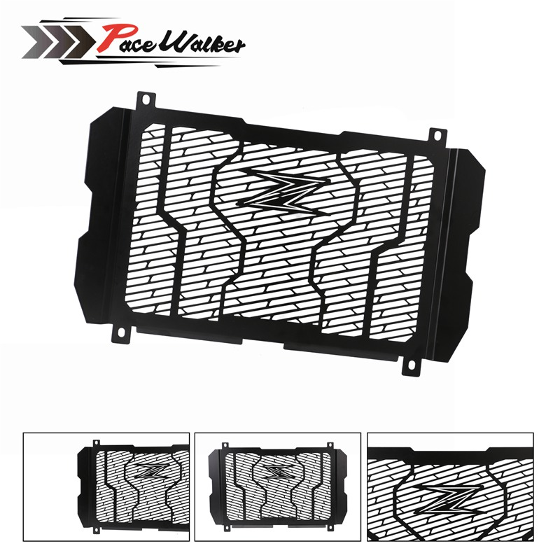 Free shipping New style Motorcycle Stainless Steel RADIATOR GUARD COVER Protector Grille Cover Fit For Kawasaki Z900 2017 for kawasaki z900 2017 motorcycle radiator guard gloss stainless steel grille bezel radiator net protective cover