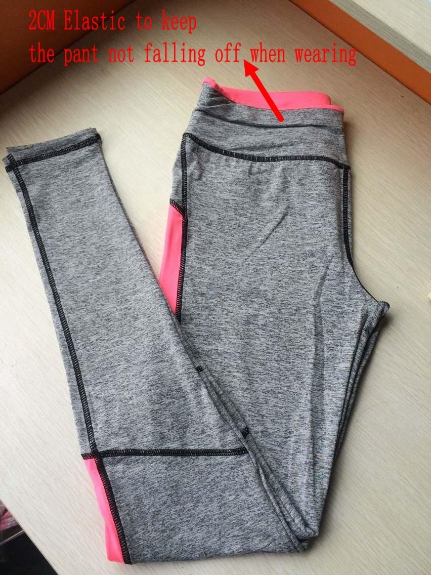 17 Women Lady Activewear Pink Legging Spring Summer light grey Pant Autumn High Waist Leggins 18 American Original Order 13