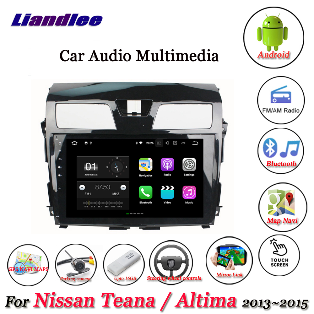 Liandlee Car Android System For Nissan Teana / Altima 2013~2016 Stereo Radio Video BT GPS Map Navi Navigation Multimedia No DVD 10 1 android car dvd multimedia player gps for nissan teana 2013 2014 2015 2016 altima car radio stereo navigator bluetooth
