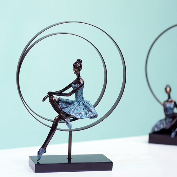 Abstract Ballet Girl Sculpture Handmade Wrought Iron And Resin Ballerina Statuette Decoration Souvenir Ornament Craftworks Gift Iron Girl Iron Sculptureiron Sculpture Gifts Aliexpress